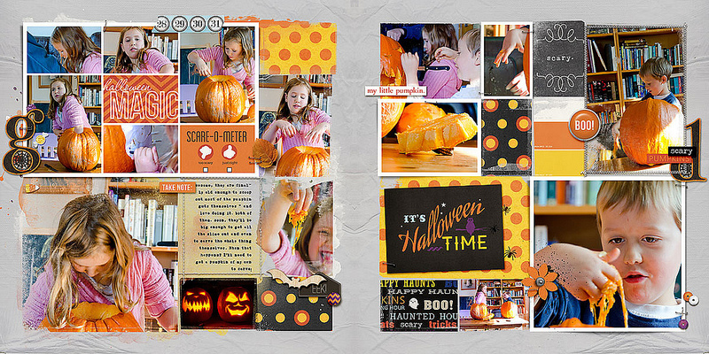 halloween double page layout by amberr using Project Mouse: Halloween Edition by Sahlin Studio & Britt-ish Designs