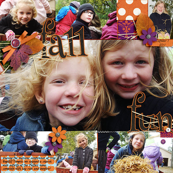 Fall digital scrapbook page by becca1976 using Project Mouse: Halloween Edition by Sahlin Studio & Britt-ish Designs