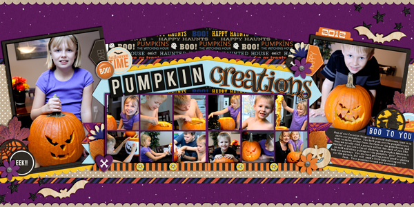 Halloween / Pumpkin digital scrapbook page by cindys732003 using Project Mouse: Halloween Edition by Sahlin Studio & Britt-ish Designs