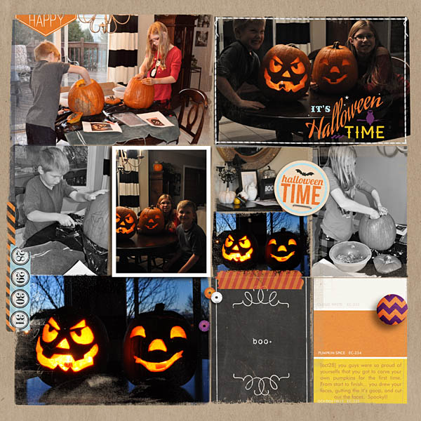Halloween project life journal cards by kristasahlin using Project Mouse: Halloween Edition by Sahlin Studio & Britt-ish Designs