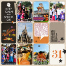 disney halloween project life page by neeceebee using Project Mouse: Halloween Edition by Sahlin Studio & Britt-ish Designs
