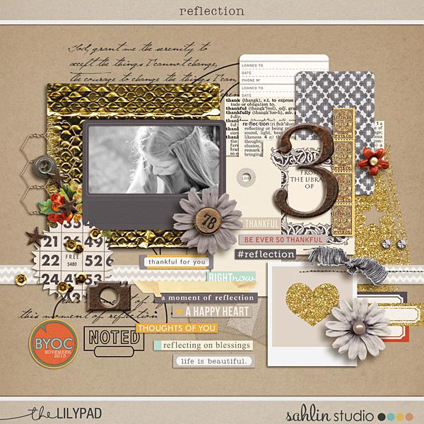 Reflection (Digital Scrapbook Elements) by Sahlin Studio
