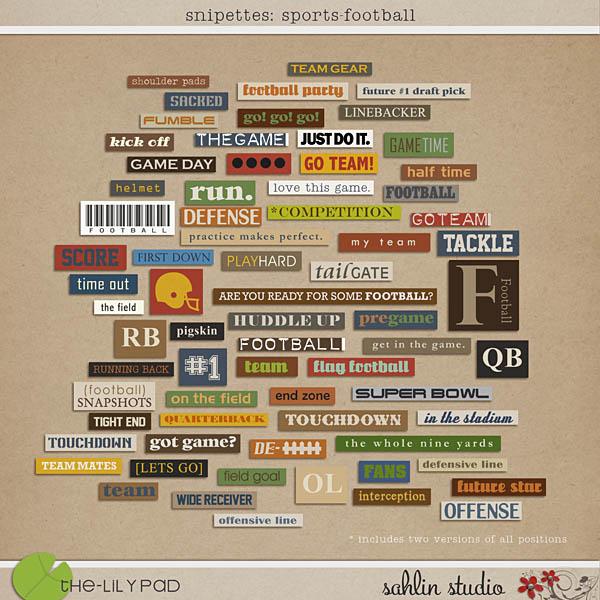 Snipettes: Sports - Football by Sahlin Studio