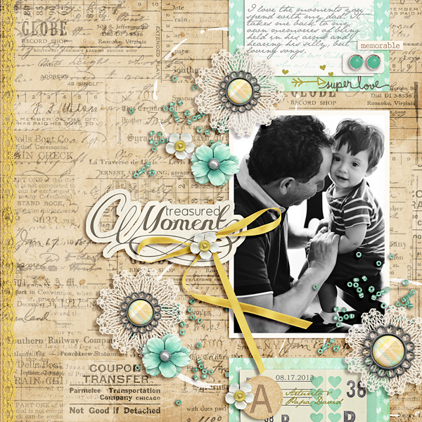 Family Digital Scrapbook Layout by raquels using FREE Template & Treasured Moments by Sahlin Studio