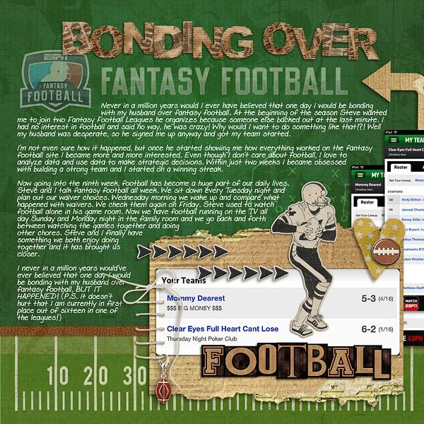 Football digital scrapbook layout by christineirion using Sports: Football by Sahlin Studio