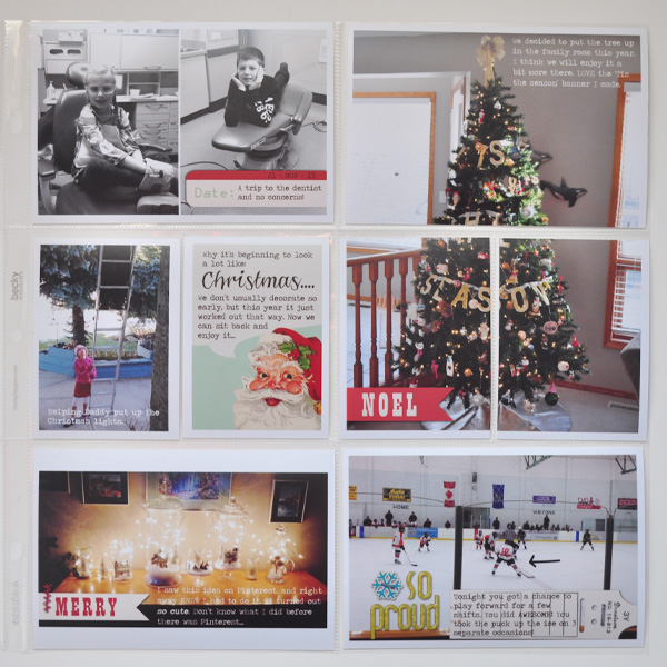 Project Life style layout created by ctmm4 featuring Kitschy Christmas by Sahlin Studio and Jenn Barrette