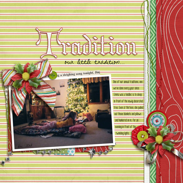 Christmas layout created by Lor featuring Kitschy Christmas by Sahlin Studio and Jenn Barrette