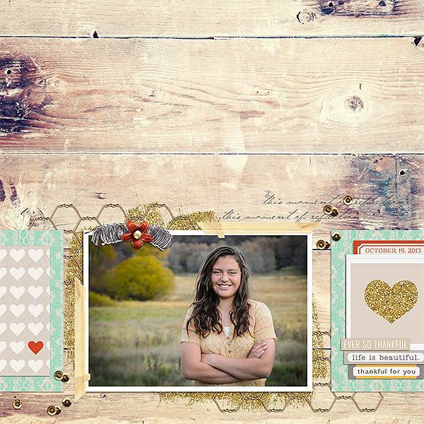 Fall Digital Scrapbook Layout by kv2av using FREE Template & Treasured Moments by Sahlin Studio
