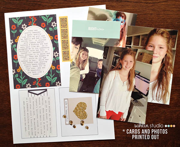 right now project life, journal cards & photos printed out by kristasahlin using Reflection Kit by Sahlin Studio