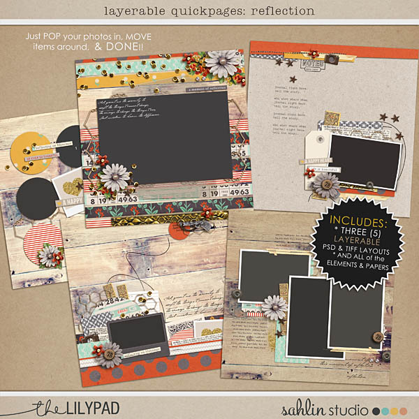 Create EASY layouts with Layered / Editable Quickpages - Reflection by sahlin studio
