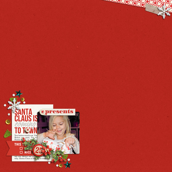 Christmas digital layout by Arumrose using Santa's Workshop by Sahlin Studio