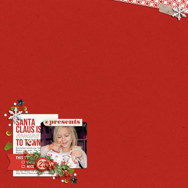 Christmas digital layout by Arumrose using Santa's Workshop by Sahlin Studio