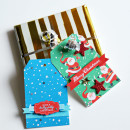 Christmas hybrid tags by Cristina using Santa's Workshop by Sahlin Studio