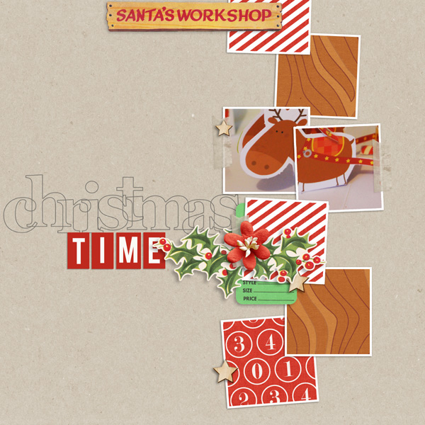 Christmas digital layout by MlleTerraMoka using Santa's Workshop by Sahlin Studio