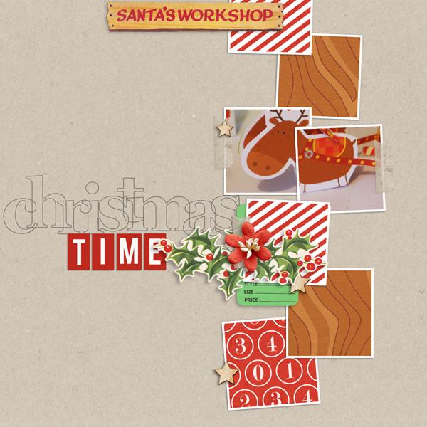 Christmas digital layout by MlleTerraMoka using Santa's Workshop by Sahlin Studio