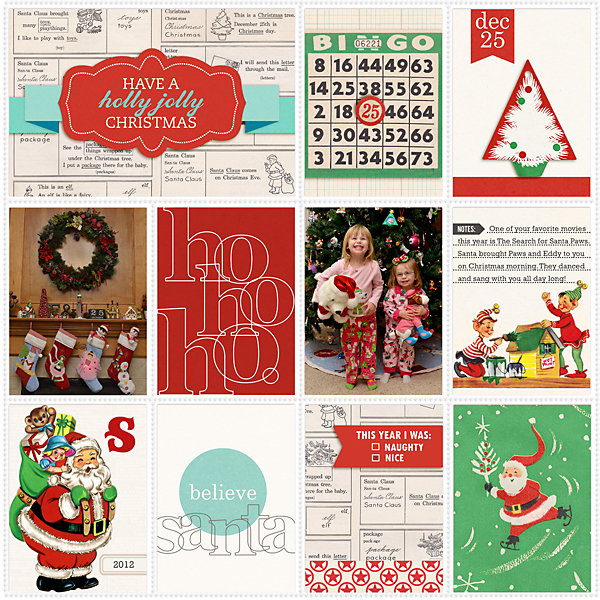 Christmas digital pocket scrapbook page by TeresaVictor using Santa's Workshop by Sahlin Studio