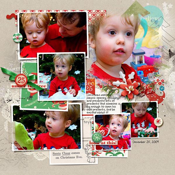 Christmas layout by amberr using Santa's Workshop by Sahlin Studio