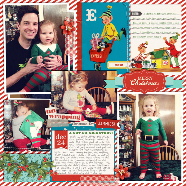 Christmas digital layout by britt using Santa's Workshop by Sahlin Studio