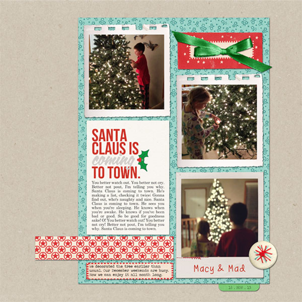 Christmas digital layout by ctmm4 using Santa's Workshop by Sahlin Studio