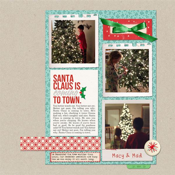Christmas digital layout by ctmm4 using Santa's Workshop by Sahlin Studio
