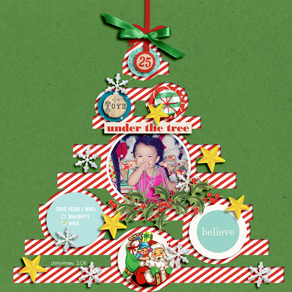 Christmas digital layout by dianeskie using Santa's Workshop by Sahlin Studio