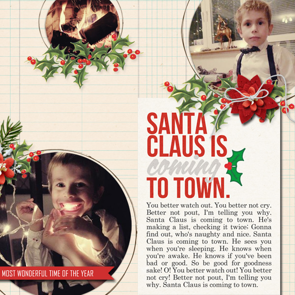 Christmas digital layout by dul using Santa's Workshop by Sahlin Studio