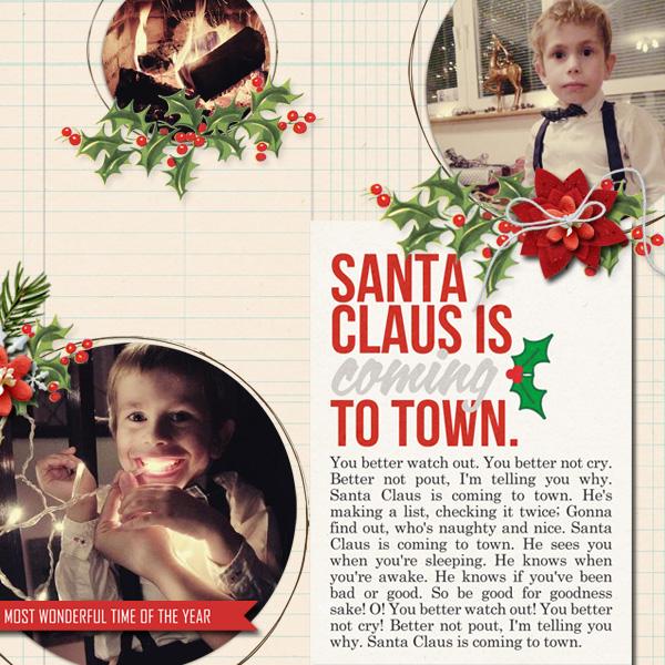 Christmas digital layout by dul using Santa's Workshop by Sahlin Studio