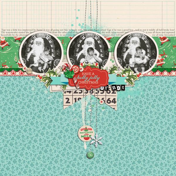 Christmas with Santa digital layout by justagirl using Santa's Workshop by Sahlin Studio