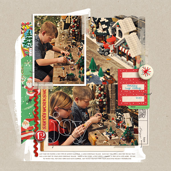 holiday lego village digital layout by kristasahlin using Santa's Workshop by Sahlin Studio