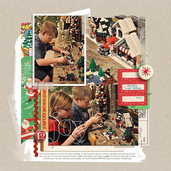 holiday lego village digital layout by kristasahlin using Santa's Workshop by Sahlin Studio