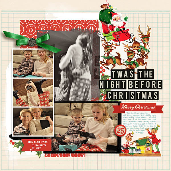 night before christmas digital layout by kristasahlin using Santa's Workshop by Sahlin Studio