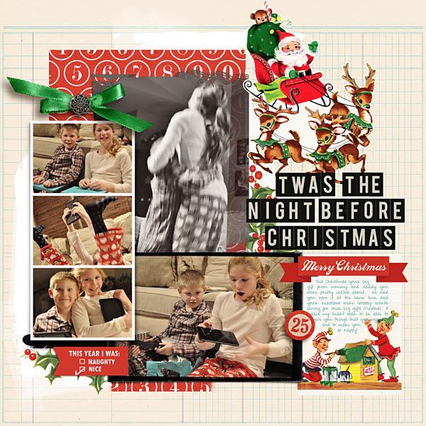 night before christmas digital layout by kristasahlin using Santa's Workshop by Sahlin Studio