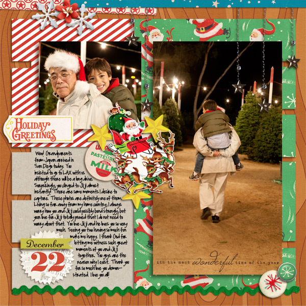Christmas digital layout by mikinenn2 using Santa's Workshop by Sahlin Studio