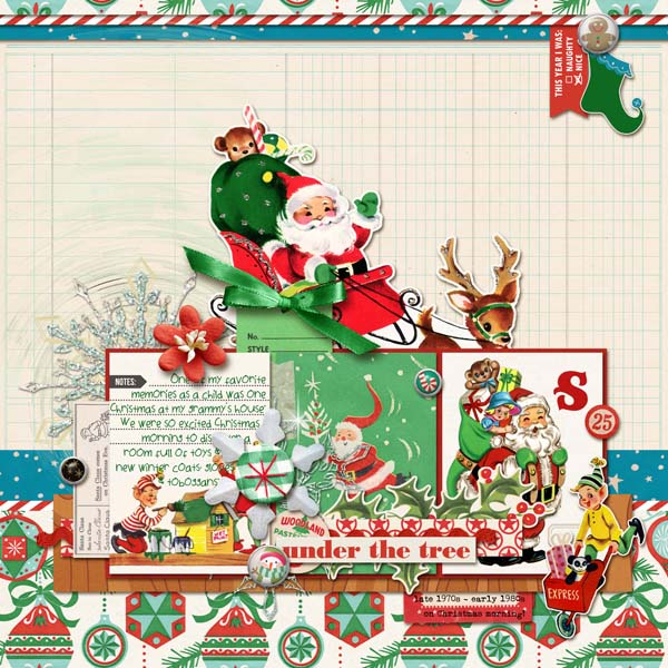 Christmas digital layout by mom2da3ks using Santa's Workshop by Sahlin Studioac