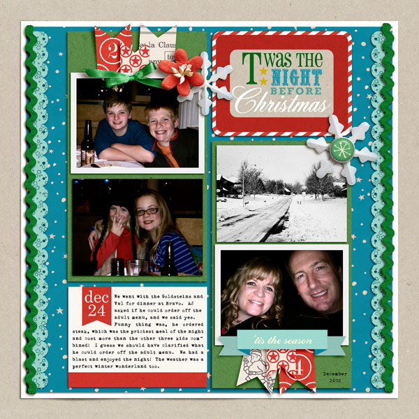Christmas digital layout by norton94 using Santa's Workshop by Sahlin Studio