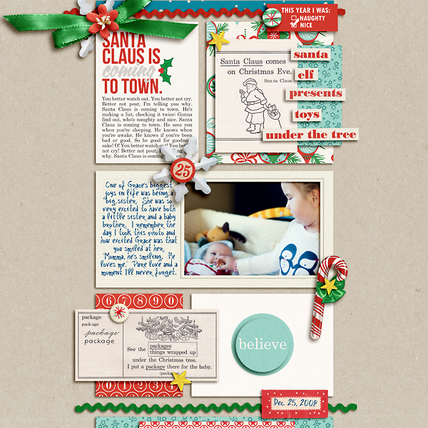 Christmas digital layout by pne123 using Santa's Workshop by Sahlin Studio