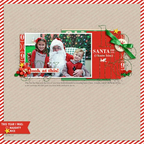 Santa digital layout by rlma using Santa's Workshop by Sahlin Studio