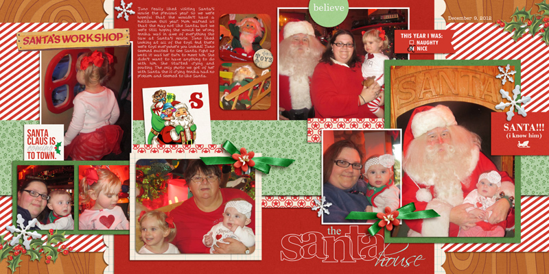 Santa double page digital layout by yzerbear19 using Santa's Workshop by Sahlin Studio