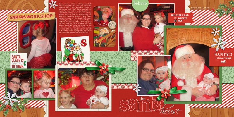 Santa double page digital layout by yzerbear19 using Santa's Workshop by Sahlin Studio