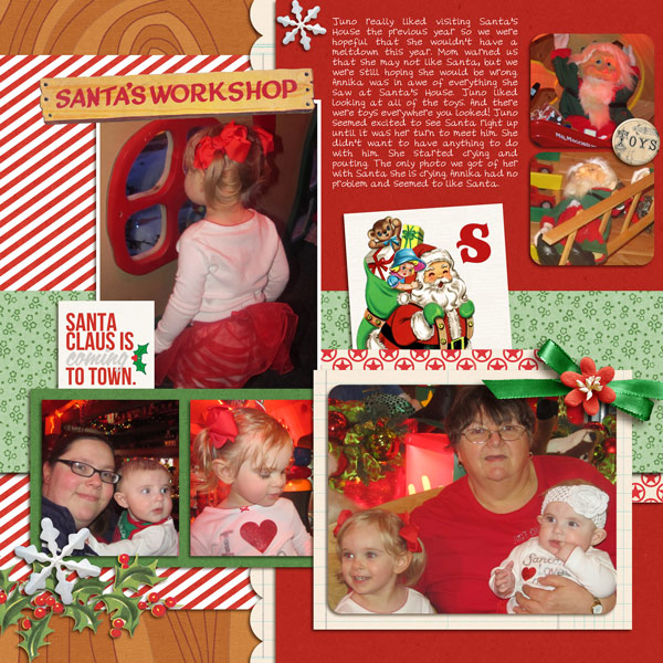 Santa digital layout by yzerbear19 using Santa's Workshop by Sahlin Studio