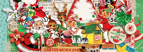 Digital Scrapbook Kit | Santas Workshop