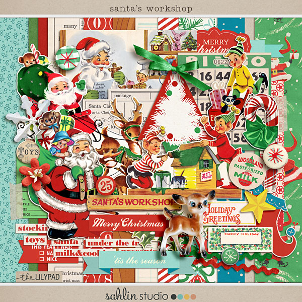santa's workshop by sahlin studio - Perfect for scrapbooking your christmas season!