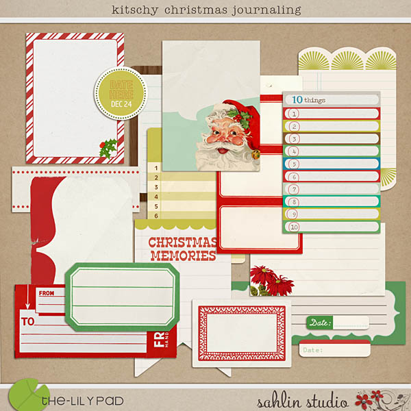 Kitschy Christmas: Journaling by Sahlin Studio