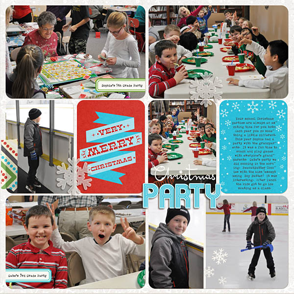 Christmas Project Life by krista sahlin using Project Mouse: Christmas by Britt-ish Designs & Sahlin Studio