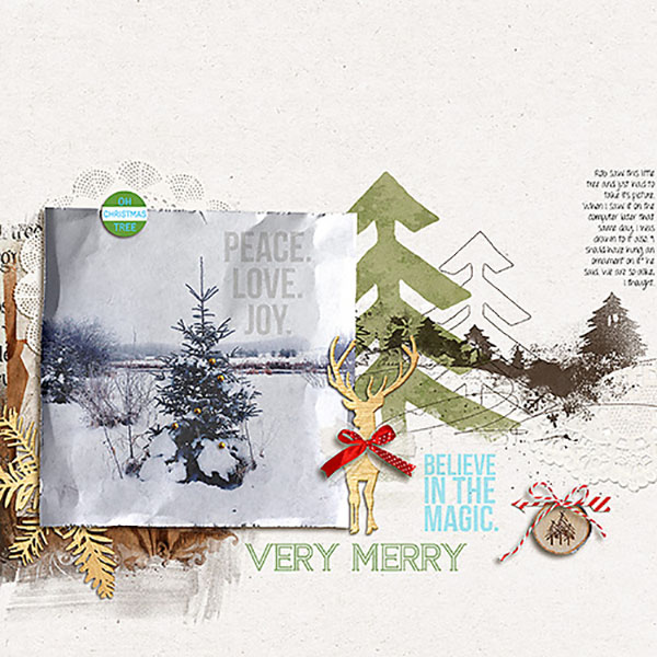 Christmas layout by Heather Prins using Project Mouse: Christmas by Britt-ish Designs & Sahlin Studio