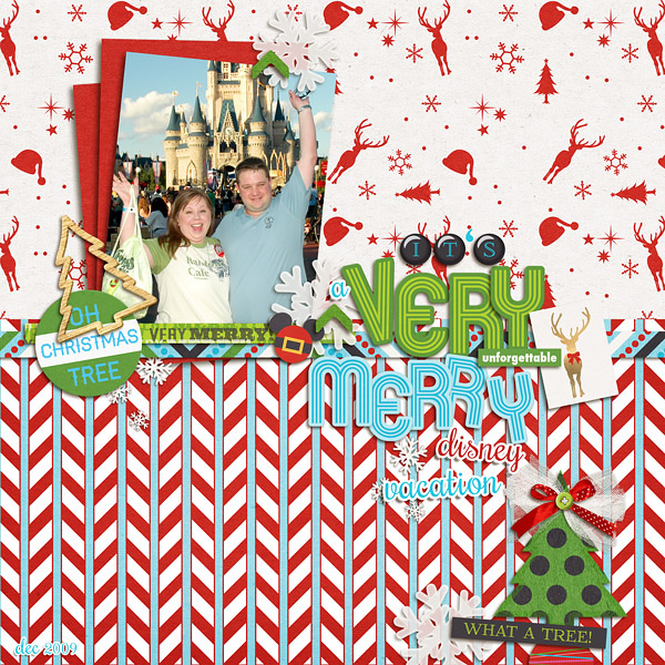 Christmas Disney layout by Kat using Project Mouse: Christmas by Britt-ish Designs  & Sahlin Studio