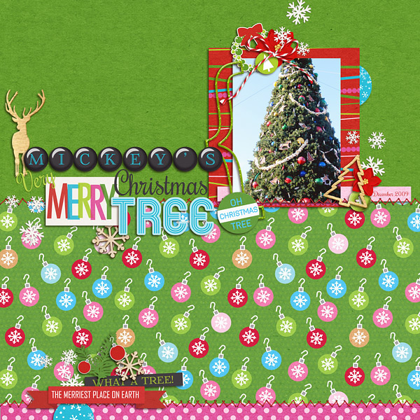 Christmas layout by Kat using Project Mouse: Christmas by Britt-ish Designs & Sahlin Studio