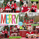 Christmas Disney layout by MelindaS using Project Mouse: Christmas by Britt-ish Designs & Sahlin Studio