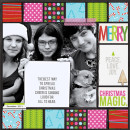 Christmas layout by MissKim using Project Mouse: Christmas by Britt-ish Designs & Sahlin Studio