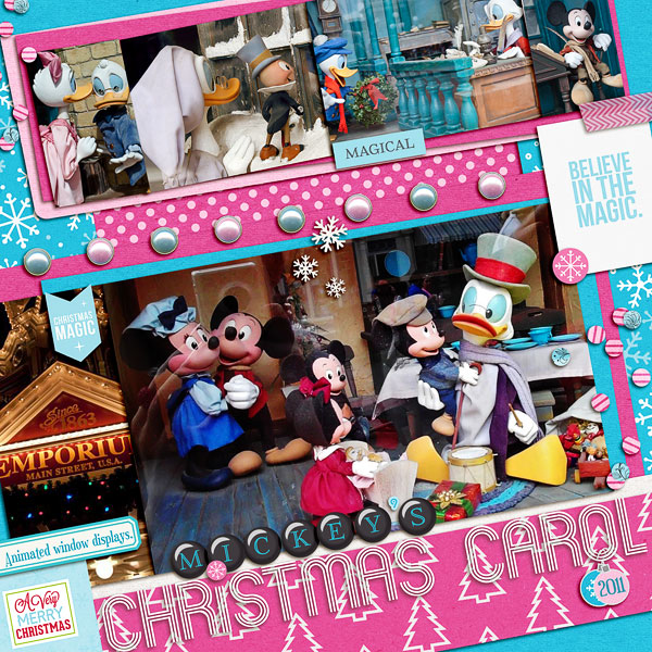 Christmas layout by Pooh46 using Project Mouse: Christmas by Britt-ish Designs  & Sahlin Studio
